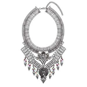 NWT Boho Bib Statement Collar Necklace Diamond